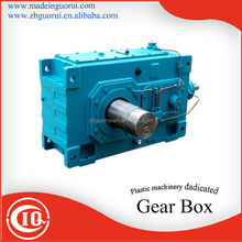 SJF Plastic extruder gearbox made in china /Square reducer for crane Hollow output shaft