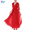 2017 Latest Design Elegant Beautiful Casual Women Chiffon Dress