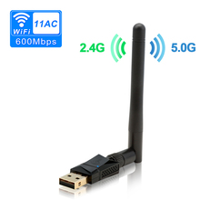 600Mbps Dual Band (2.4G/150Mbps+5G/433Mbps) Wireless USB Wifi Adapter,802.11N/G/B Antenna Network Lan Card For Windows XP