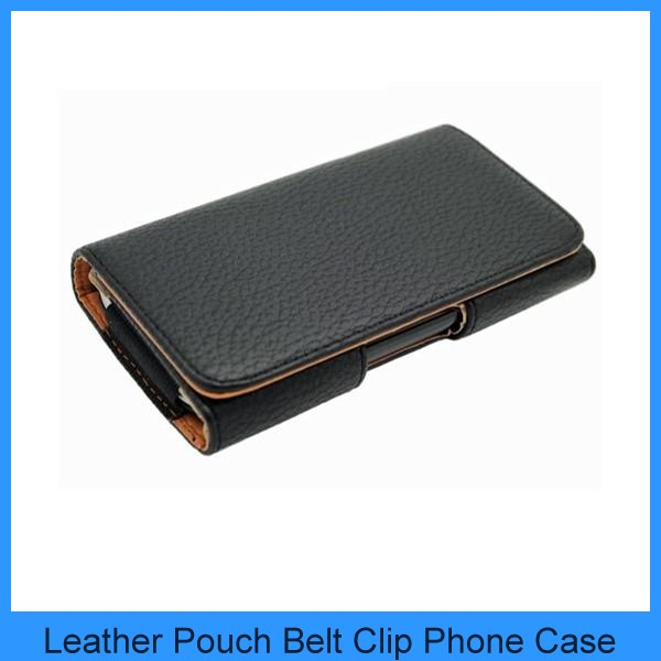 For blackberry nokia huawei htc Black Leather Holster Pouch Common Case Cover Belt Clip