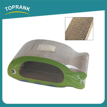 Toprank Cat toys Fish shaped Corrugated Cat Scratcher, Wholesale corrugated Cardboard Cat Scratcher