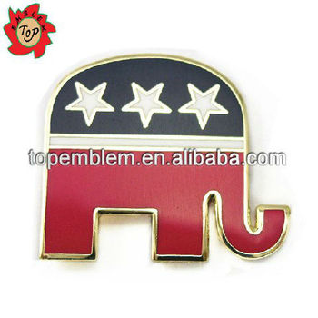 USA metal horse lapel pins