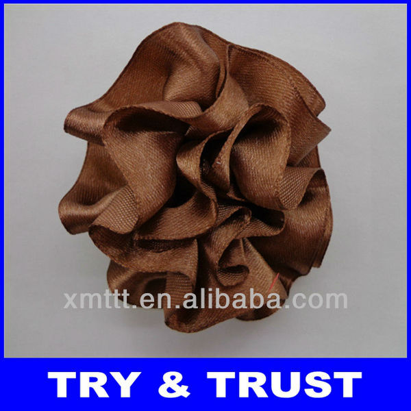 Popular satin ribbon handmade flowers for lady slippers