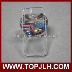TOPJLH Glossy Clear UV Phone Case for iPhone 5C