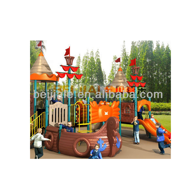 kids plastic outdoor playground equipment ship PS-065