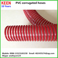 6 inch winding ribbed PVC hose Spiral flexible suction hose