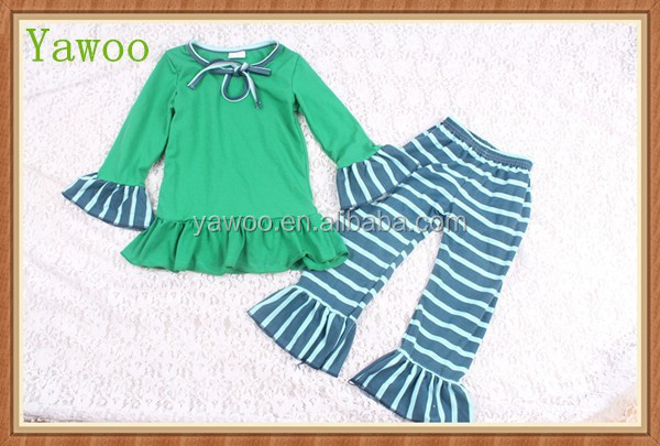 2015 wholesale boutique clothing manufacturers usa winter children's african clothing stripes cheap price on baby clothes