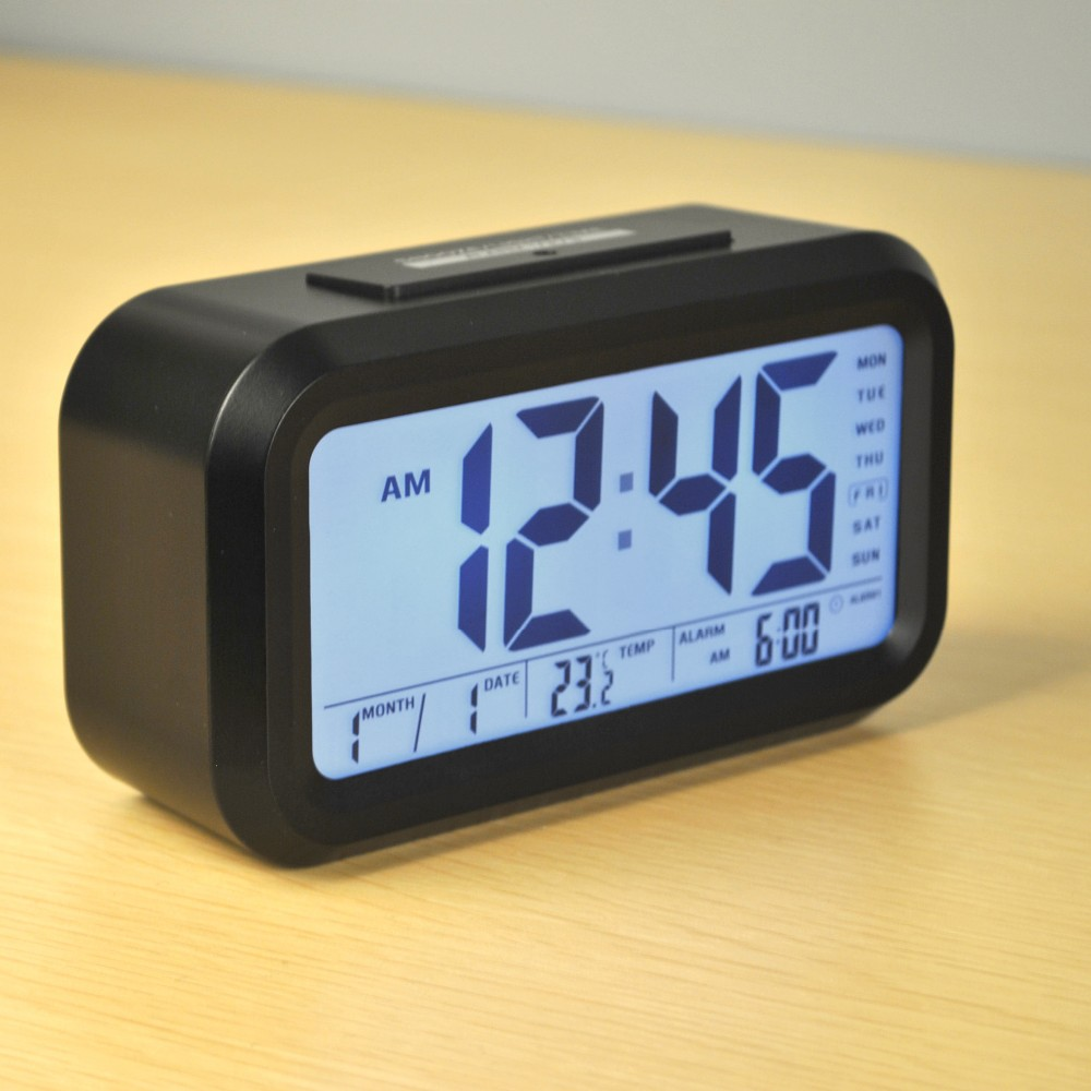 LCD Digital Talking alarm clocks for kids with Time and Temperature display