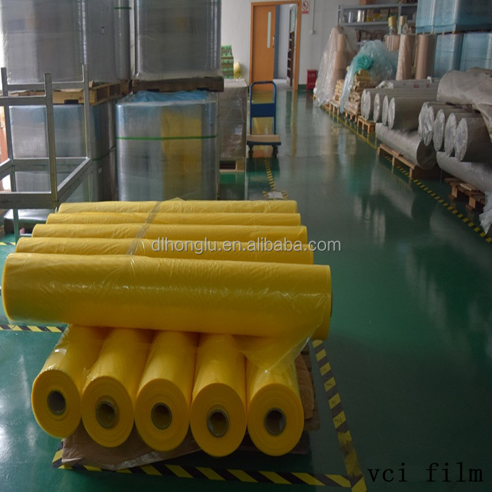 Transparent biodegradable protecting metal anti rust vci stretch film