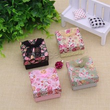 multifunction cardboard jewelry box for earring necklace box and ring sets