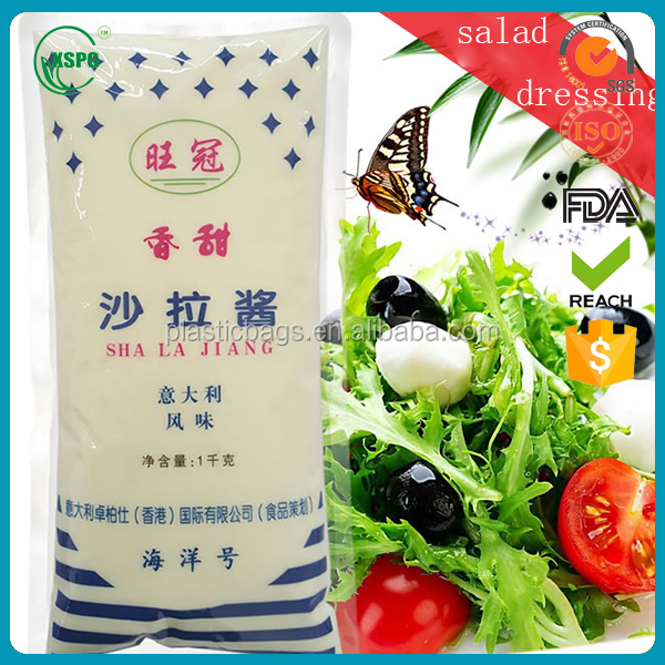 Factory Made Disposable Salad Dressing Paking Bag/Suace Bag Wholesale