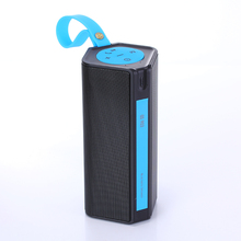 IPX4 Waterproof Outdoor Wireless Portable Speaker with Subwoofer and Built-in Power Bank and FM Radio and TF Card