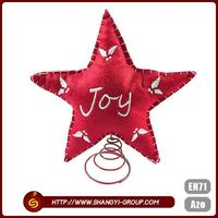 2016 New promotion gifts Christmas star shape party decoration