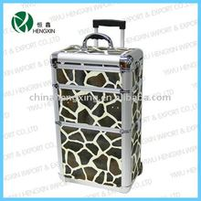 Trolley camouflage pattern beauty make up case cosmetic tray case