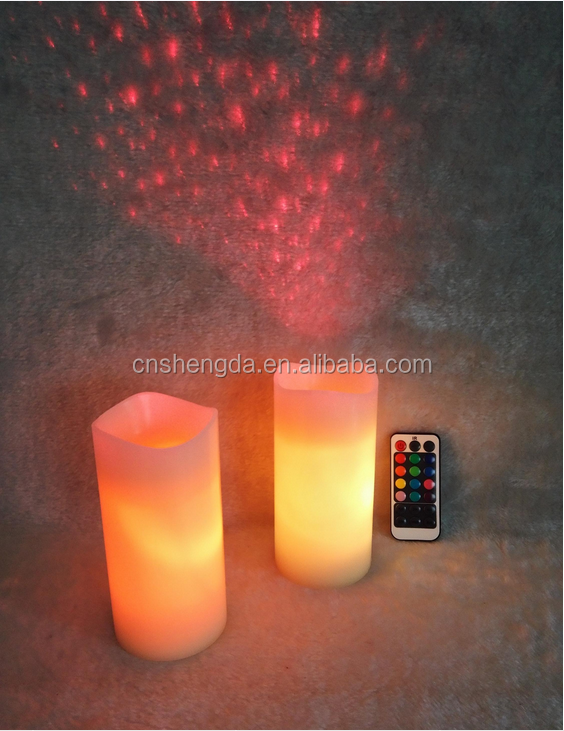 "Improvements Rechargeable 6"" LED Laser Wax Candle"