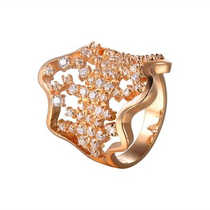 Luxury bamoer gold fashion jewelry 20k gold ring with spring design
