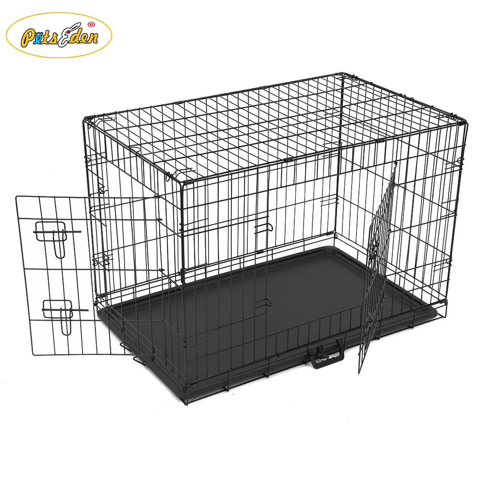Double Door Folding Metal Dog Crates