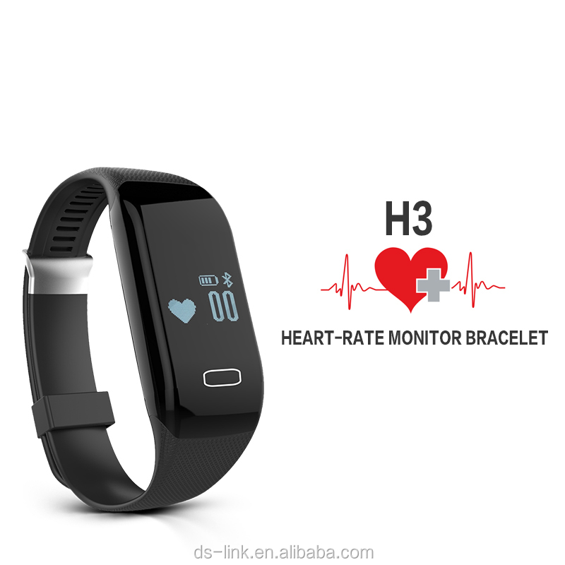 Smart Wristband New top Bluetooth Fitbit Ring Pedometer Heart Rate Monitor Vibrating Fitness Smart Bracelet H3