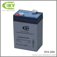 6V4AH Sealed lead acid battery for100-LED High Output Solar Security Light