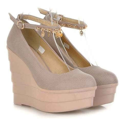 SE1007 The Spring of 2014 The New Wedge Heels Woman Single Shoes Pointed Wedge High Heel Shoes