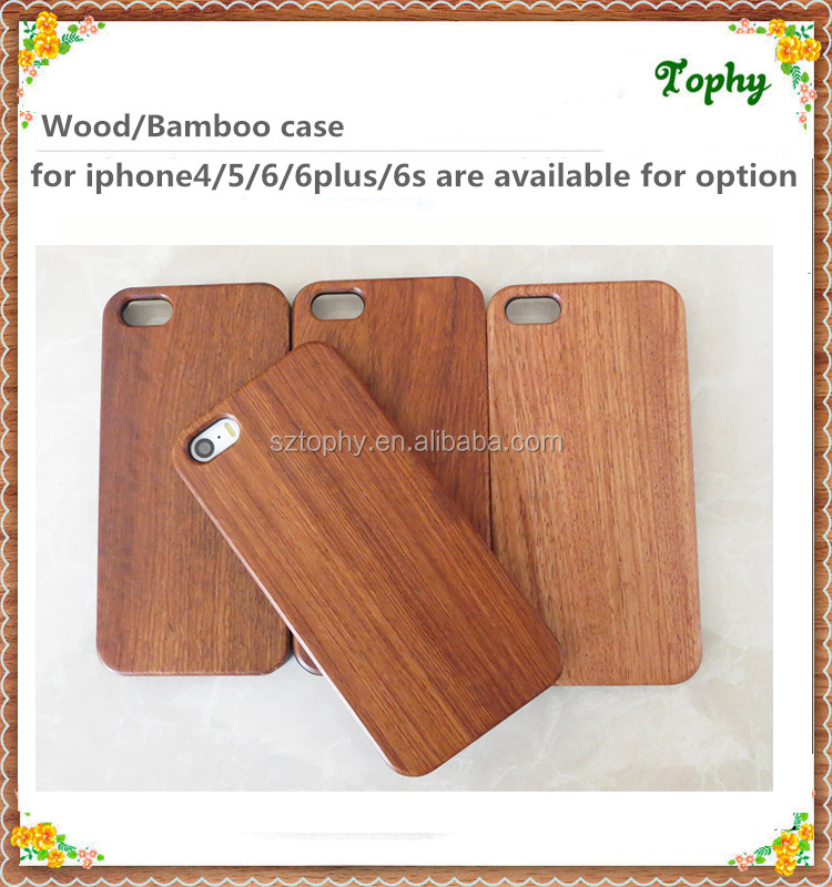 2014 Cheapest phone case rose wood, 100% natural pure wooden case for iPhone 5 6 plus
