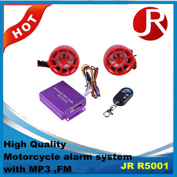 High quality remote contral Motorcycle MP3 Audio Alarm System