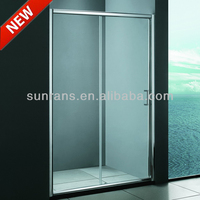 Aluminum alloy 6mm tempered glass public shower room