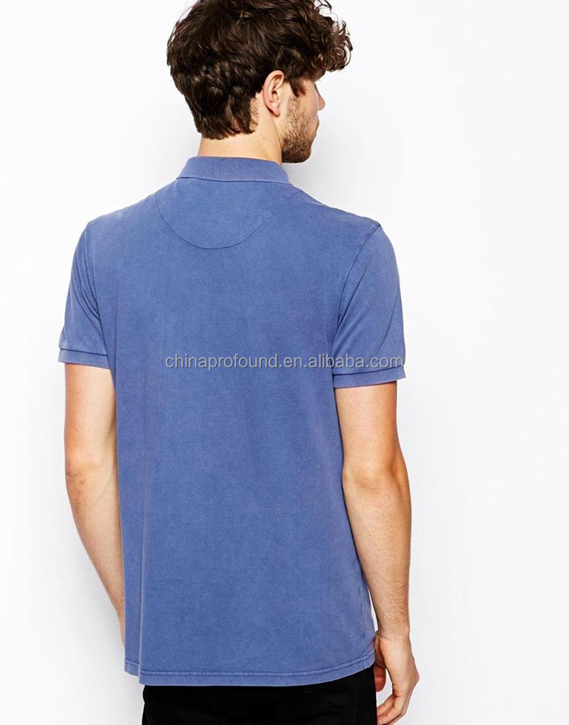 polo collar T shirt design stoned washed tshirt for men polo t-shirt wholesale