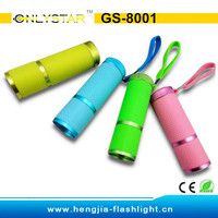GS-8001 Aluminum 9 LED Anti-skidding luminous flashlight
