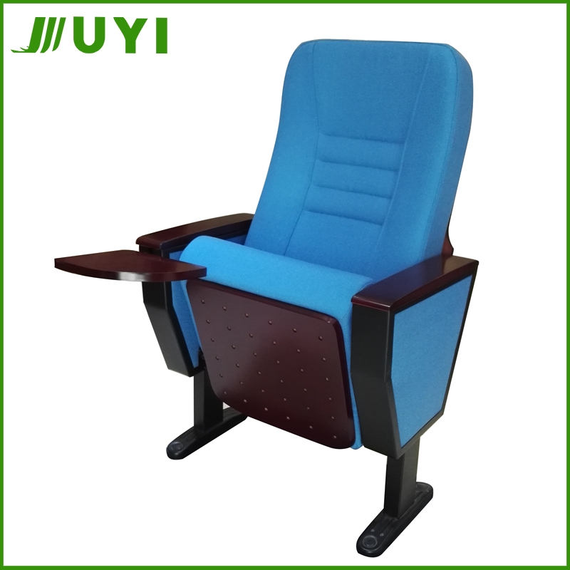 JY-998T Folding Outdoor 3D Modern Fabric With Arms Chair For Auditorium Portable Theatre Seating Stackable Lecture Hall Chairs