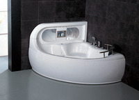 Acrylic whirlpool corner massage spa sex bathtub with massage jets 2 person jetted bathtubs/G650 sex tub