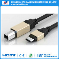 USB 2.0 C to USB-B Printer Cable Data Charger Cable