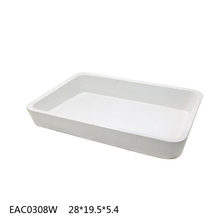 2016 the best cement /concrete serv tray white rectangular lamin valet tray for wholesale and promotion