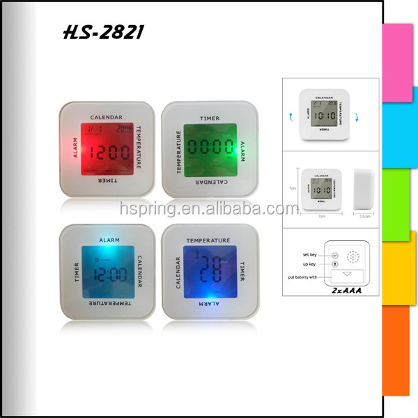 2016 new design good price promotional digital gravity induction turn over clock