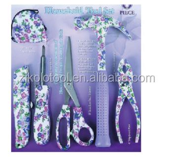 6pcs flower printed garden tool set tool kit tools buy for Garden tool set for women