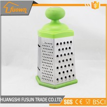 Kitchen Gadgets Stainless Steel 6 Side Cheese Grater / Vegetable Fruit Grater