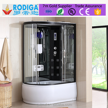 Autme popular portable acrylic steam shower room with led lights