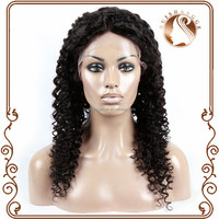100 unprocessed kinky curl human hair full lace wig for black women