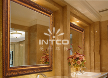 INTCO luxurious gold bathroom large decorative wall mirror