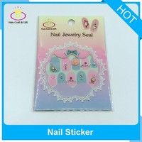 2017 Fasion Sequins Rhinestone Cartoon Nail Art Sticker Design