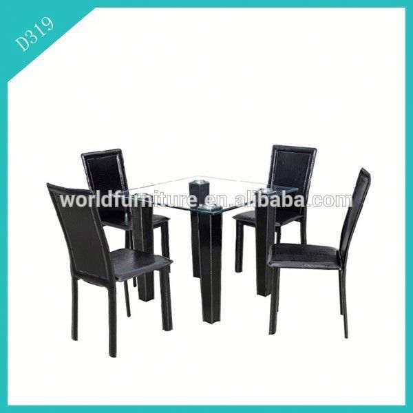 new model round glass dining table and 6 chairs