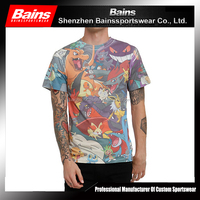 Polyester/cotton custom design dye sublimation t-shirt printing companies in china/3d printed sublimation printing t-shirt