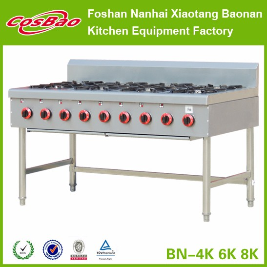 Restaurant equipment Commercial Stainless Steel Gas Cooking Range/used gas range BN-4K/6K/8K