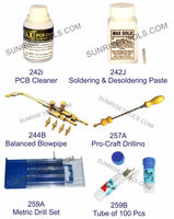 Soldering & Desoldering Paste, PCB Cleaner,Balanced Blowpipe, Metric Drill