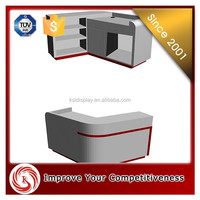 Best price Retail white mdf wood commercial shop counter desk/cashier desk/checkout counter