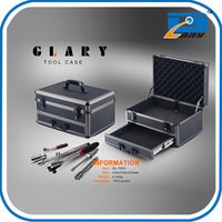 Aluminum flight tool storage case with drawer