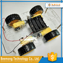 2017 Educational DIY Toy 4wd Arduinos robot arm smart car chassis kit for kids
