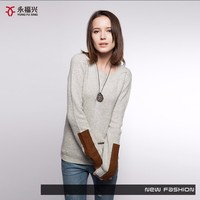 Autumn and winter ladies wearing sleeve special design wool sweater