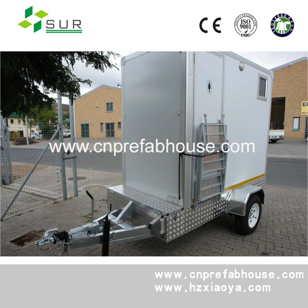 mobile portable trailer toilets,mobile toilet hot sale in SA