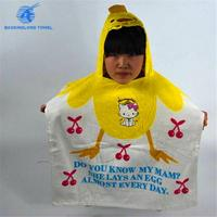 wholesale terry cloth cotton velour printed kids cartoon surf poncho hooded beach towels